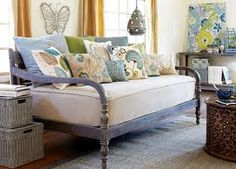 world market indonesian bench-- shorter than daybed
