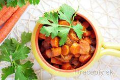 Indické mrkvové kari Diet Recipes, Healthy Recipes, Healthy Food, Polenta, Chana Masala, Quinoa, Cantaloupe, Carrots, Ale