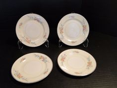 "Homer Laughlin Eggshell Georgian Cashmere Bread Plates 6 1/4"" FOUR EXCELLENT! #HomerLaughlin"