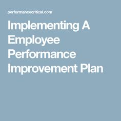 Writing A Good Performance Improvement Plan Pdfsrcom Qgmwyxbj