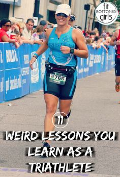 Every new hobby comes with a learning curve, and triathlon is no exception. Here are 11 lessons every triathlete ends up learning! Running Workouts, Running Tips, Gwen Jorgensen, Triathlon Training Plan, Positive Body Image, Running Fashion, Yoga, Workout For Beginners, New Hobbies