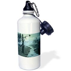 3dRose Appalachian Trail Creek, Sports Water Bottle, 21oz