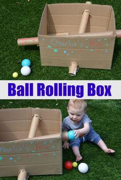 Ball rolling box #baby #babyplay #babyplayideas