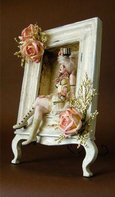 Whimsical embellished photo frame!
