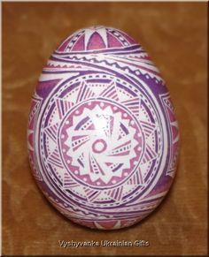 Ukrainian Hand Painted Real Pysanka Easter Egg