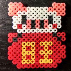 年是猪年。perler Beads pig for year 2019 Perler Patterns, Bead Patterns, Fuse Beads, Perler Beads, Cross Stitch Designs, Cross Stitch Patterns, Hama Art, Shrink Plastic, Kid Activities