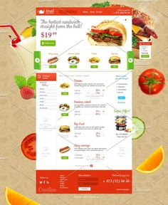 Online bistro PSD Template by Zomorsky on @creativemarket