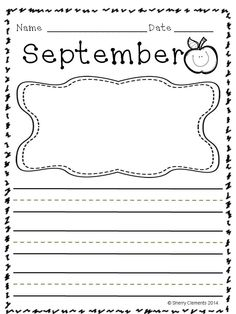Writing Through the Year (preschool, kindergarten, first grade, and second grade) - A great way to show writing progress in each student throughout the year and ending the year with a keepsake! Two types of writing line choices.  $