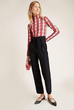 Joanna Hope Womens Curve Plus White Lightweight Linen Blend Trousers Size 22-32