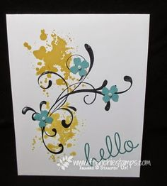 a simple Hello card by France Martin
