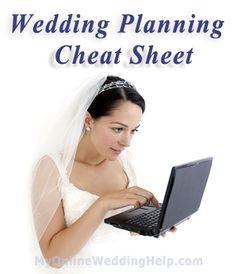 Wedding Planning Cheat Sheet | My Online Wedding Help Wedding Planning Advice