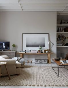 Living room inspiration...love the wall color and the rug!