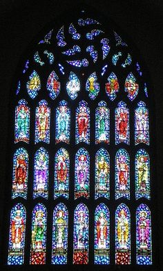 Church stained glass windows always inspire awe.