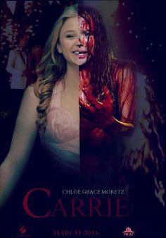 Chloe Grace as Carrie Carrie Movie, Movie Tv, Scary Movies, Good Movies, Awesome Movies, Carrie 2013, Stephen King Movies, Horror Films, People