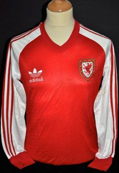 Terry Yorath Wales match worn Adidas home shirt from 1980 Czechoslovakia game