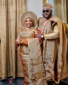 African Traditional Wedding, Traditional Wedding Dresses, African Wedding Attire, Yoruba Wedding, Couple Outfits, Fall Collections, Traditional Design, African Fashion, Princess Zelda