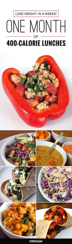 A Slimmer You in 4 Weeks! One Month of 400-Calorie Lunches