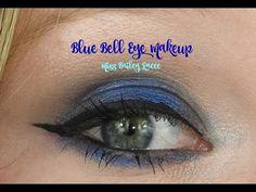 Blue Bell Eye Makeup   Miss Bailey Raeee - YouTube