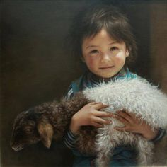 ECO-SOLVENT cotton and polyester blend banksy canvas Beautiful Children, Beautiful Babies, Life Is Beautiful, Banksy Canvas, The Lost Sheep, Chef D Oeuvre, We Are The World, Little People, Animals For Kids
