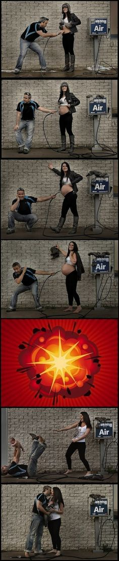 Extremely Clever Pregnancy Photo Series, haha, this is cute! Maternity Pictures, Baby Pictures, Cute Pictures, Random Pictures, Maternity Timeline, Maternity Styles, Haha, Foto Fun, Foto Baby