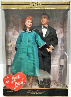 (TAS034829) - 2000 Mattel 50th Anniversary I Love Lucy Set -Lucy & Ricky Ricardo