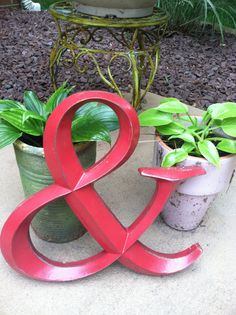 Wall Decor Ampersand Symbol by LaBellasCottage on Etsy, $19.95