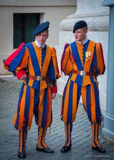 Swiss Guard, Vatican City https://en.wikipedia.org/wiki/Swiss_Guard