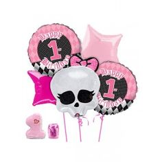 Throw your angel a first birthday party that all your friends and family will remember. The lil' angels first birthday party theme is pink and black with a little sweetness and a little spice. The 1st Birthday Angel Balloon Kit will be a pretty focal point for the party.