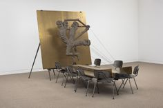 collezione maramotti, cose in corso by mark manders_anthropological trophy, 2010