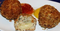 Boudin Balls Stuffed with Pepper Jack Cheese - A Cheesy Twist to an Old Cajun Classic. Just tried these today in Louisiana and I'm in love! Pepper Jack Cheese, Pepper Jelly, Creole Recipes, Cajun Recipes, Cooking Recipes, Bar Recipes, Rice Recipes, Cajun Cooking, Stuffed Peppers