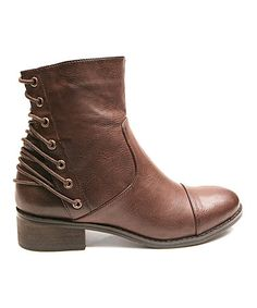 Brown Too Lock Ankle Boot #zulily #zulilyfinds
