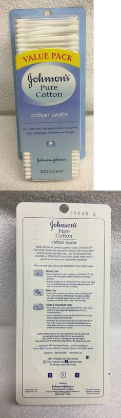 Sponges Applicators and Cotton: Johnsons Baby Pure Cotton Swabs, 525 Count -> BUY IT NOW ONLY: $30.95 on eBay!