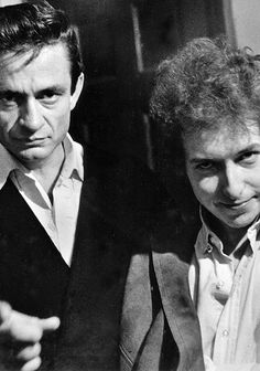 Johnny Cash and Bob Dylan, 1965.