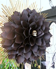 black paper dahlia - High End Halloween Decorations