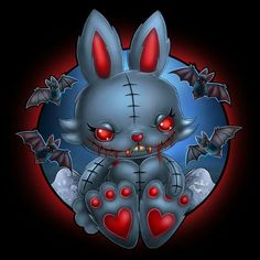 Buttercup Bunny Vampling coming soon to the Frightlings realm <3 Keep an eye out for this little terror (^,...,^) <3