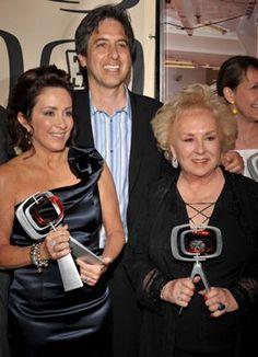 Everybody Loves Raymond stars- Ray Romano (Ray Baron), Patricia Heaton (Debra Barone) and Doris Roberts (Marie Barone)
