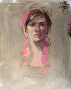 Mountain Artists' Guild demo, Bailee, oil, 20 x 16 - Bailee is really such a lovely young woman, and excellent model - I wish I'd had more time - but I at least got this much down in the short time available