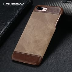 Lovebay For iPhone 7 7 Plus Phone Cases Luxury Retro Hybrid Jeans Pattern Design PU Leather Back Cover Case For iPhone 7 7 Plus