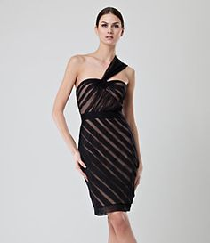 Jill Stuart One Shoulder Mesh Stripe Dress - loving this for the wedding that I'm attending in Sept.    Google Image Result for http://dimg.dillards.com/is/image/DillardsZoom/03770599_zi?$mobileProduct$