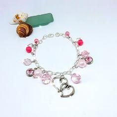 Handmade Shop, Etsy Handmade, Handmade Items, Handmade Gifts, Heart Bracelet, Charm Bracelets, Beaded Bracelets, Bridesmaid Bracelet, Bridesmaid Gifts