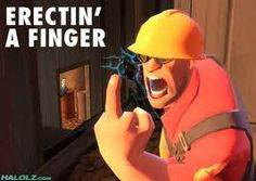 When the enemy spy keeps zappin your things Team Fortress 2, Tf2 Memes, Overwatch 2, 10 Years Later, Red Vs Blue, Best Mate, Gaming Memes, Funny Games, Video Games