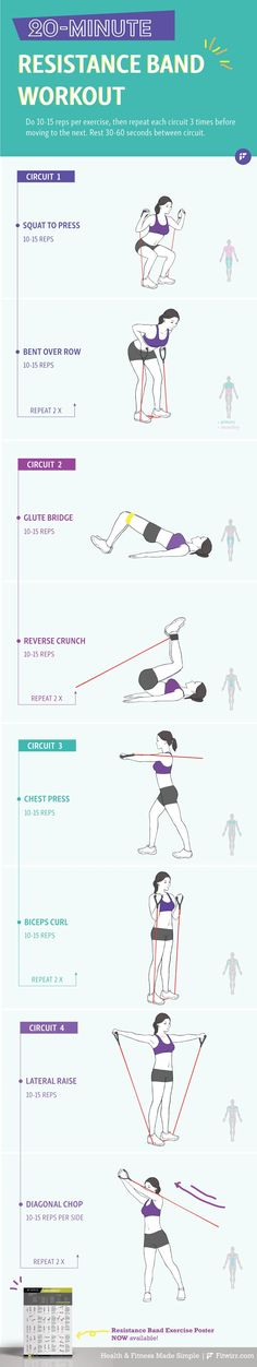 Here's a 20 minute band full-body sculpting workout to transform your body including your butt, arms, abs and thighs. #abs #butt #thighs