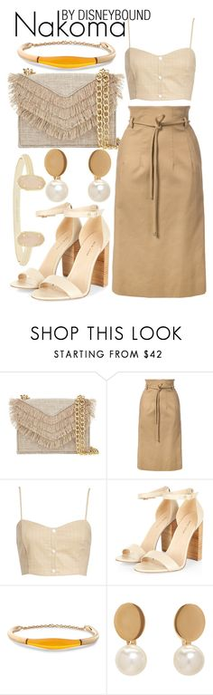 """Nakoma"" by leslieakay ❤ liked on Polyvore featuring Cynthia Rowley, Oscar de la Renta, Leith, Balmain, Chloé, Kendra Scott, disney, disneybound and disneystyle"