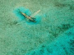 Avion sumergido en las Bahamas