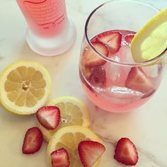 Try this strawberry, lemon KINKY Pink on the rocks. You won't regret it... Pinky Promise. We LOVE easy and delicious cocktail recipes!