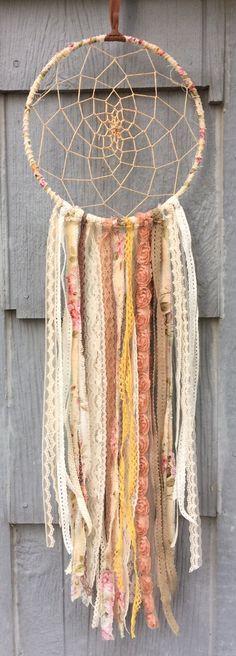 Large Vintage Lace Boho Dreamcatcher by bohodreamscompany on Etsy
