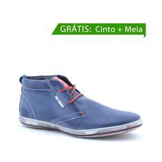 buy online 70d77 0d755 Kit Sapato Casual Masculino - Grátis Cinto e Meia - DS21SAP3