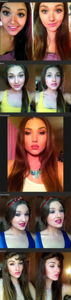 Spot on Disney princess makeup, except for snow white