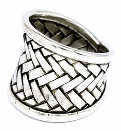 Hill tribes of Northern Thailand Handmade Weave Silver Ring BKGjewelry [SR0013] #BKGjewelry #Band