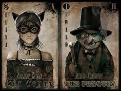 Batman and Villains artwork by John Gibson Dc Comics, Batman Comics, Comic Kunst, Comic Art, Comic Books, Ninja, Gotham Villains, Sketchbook Pages, Joker And Harley Quinn